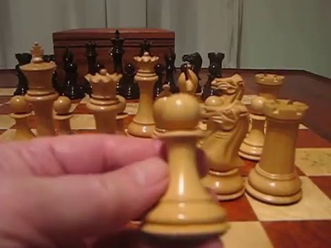 Official Staunton Chess Company's Collectors Series Rosewood Chess Pieces