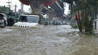 In the rain dangerous water logging in Chittagong   Fahria   21April17