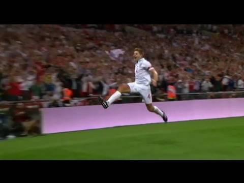 England 2-1 Hungary - Steven Gerrard scores both goals