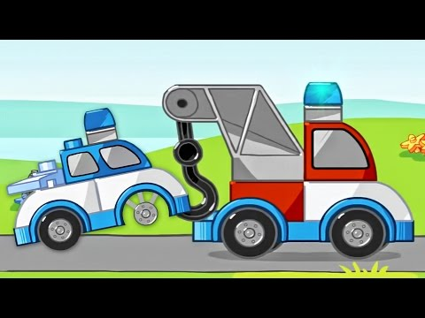 Lego Duplo Playground Tow Trucks   Police Car, Constructions Cars   Cartoon Lego Games For Children