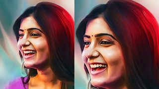 Digital Art Tutorial - Smudge art photoshop tutorial - Venkat Arts Style