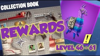 Collection Book LEVEL 46 - 61 REWARDS - Fortnite Save The World (EASY ROAD TRIP TICKETS)