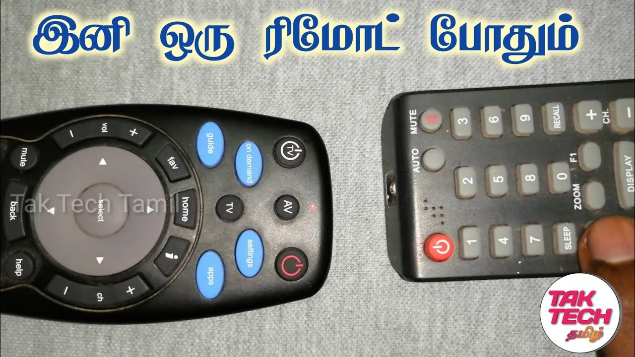 How to pair tata sky remote with TV remote 📺/ Tak Tech tamil