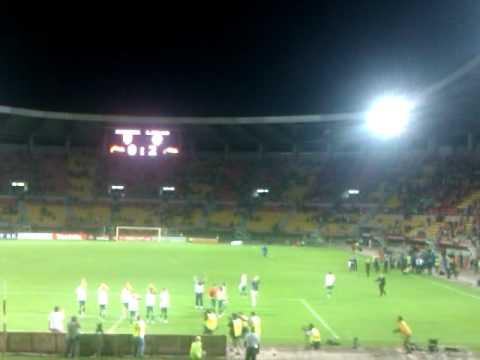 Ireland team clap fans skopje 2011