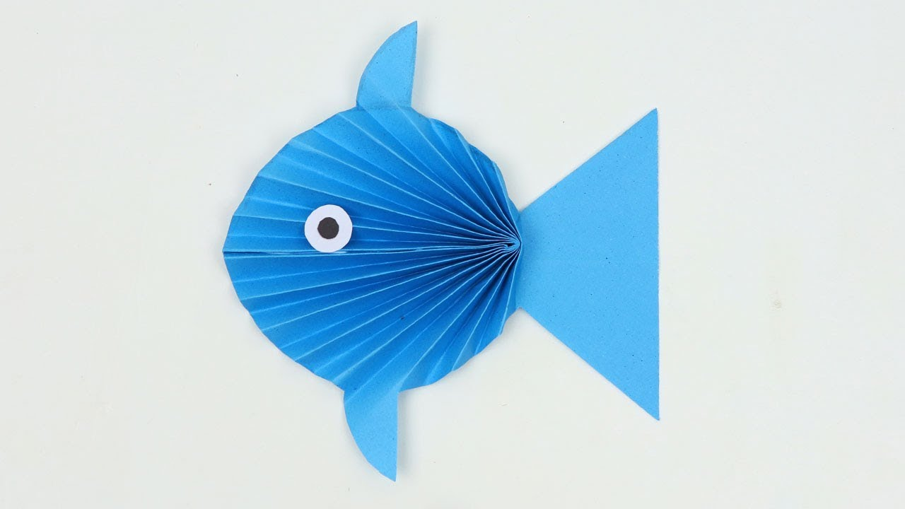 How to Make Easy Paper Fish Not Origami Step by Step Tutorial  Fish 🐠 -  Paper Folding Craft DIY