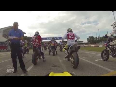 RAW STUFF - SMoN 2015 - JESOLO, ITALY: Full Race 2 from #15 Vorlicek On-board Camera - Supermoto