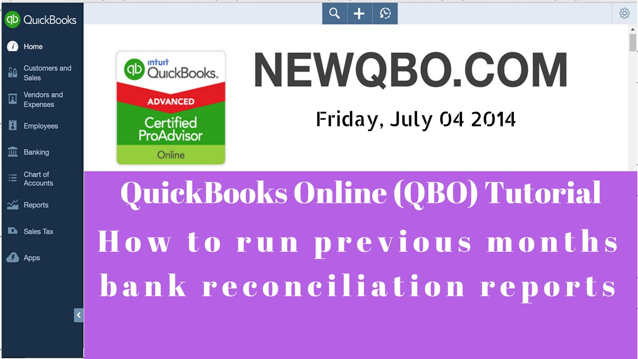 how to cancel reconciliation quickbooks online
