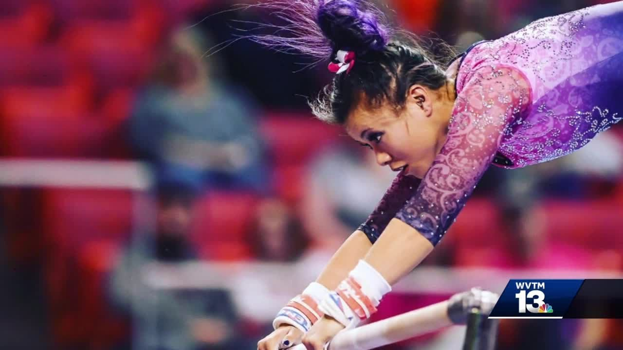 auburn gymnast suffers gruesome injury during regional [ 1280 x 720 Pixel ]