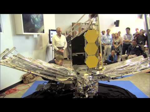 NASA | California Polytechnic Institute Students bring JWST Model to NASA GSFC