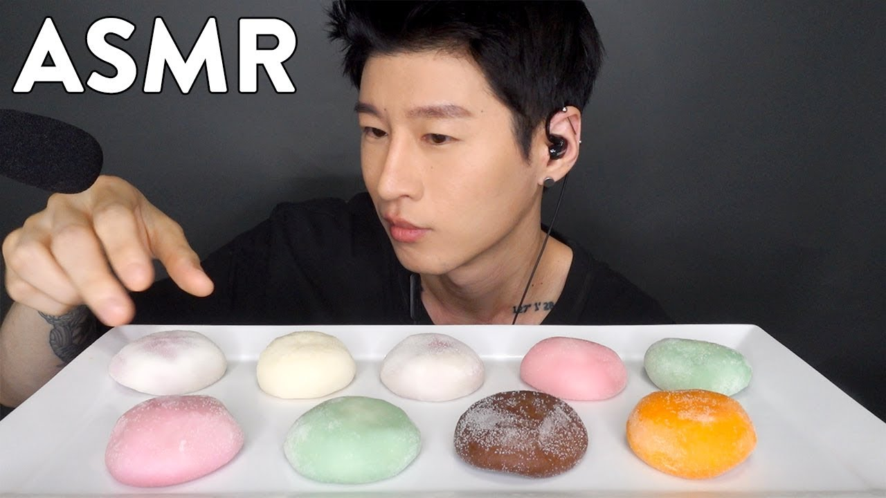 Asmr Mochi Ice Cream No Talking Soft Chewy Eating Sounds Zach Choi Asmr