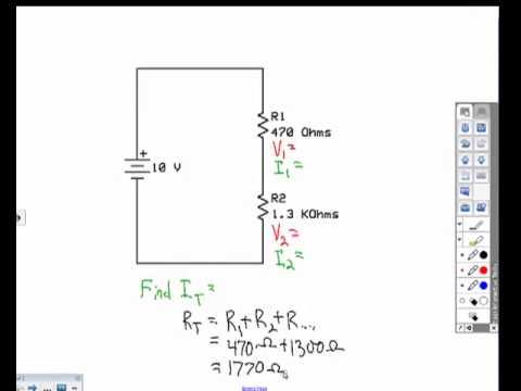 solving series circuit problems youtube rh youtube com calculate series circuit at vab calculate series circuit