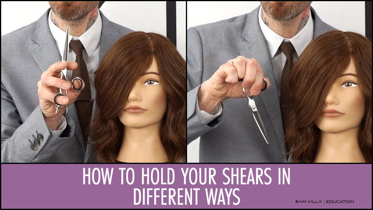 different ways to style your hair how to hold your shears in different ways to cut hair 5616