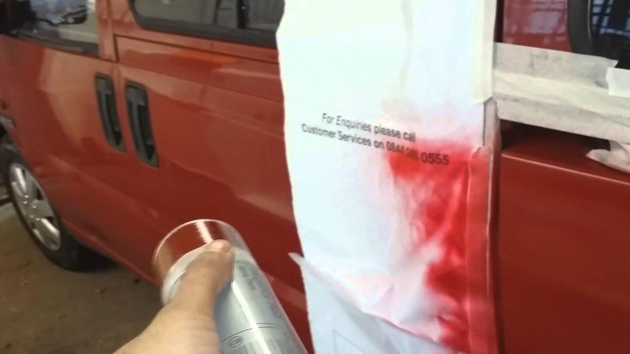 Custom Van Car Sprayed With Spray Can Paint Youtube