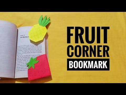 DIY: FRUIT CORNER BOOKMARK - STRAWBERRY AND PINEAPPLE  #bookmark #strawberry #pineapple #fruitlovers
