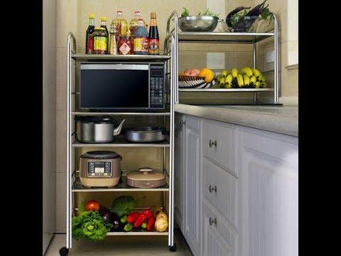[fundin001]31350《2件免運》10款 不鏽鋼 廚房 微波爐 烤箱 電鍋 浴室 室內 置物架 [二層大號:長60×寬36×高55公分 ...