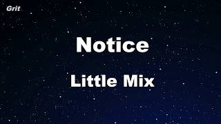Notice - Little Mix Karaoke 【No Guide Melody】 Instrumental