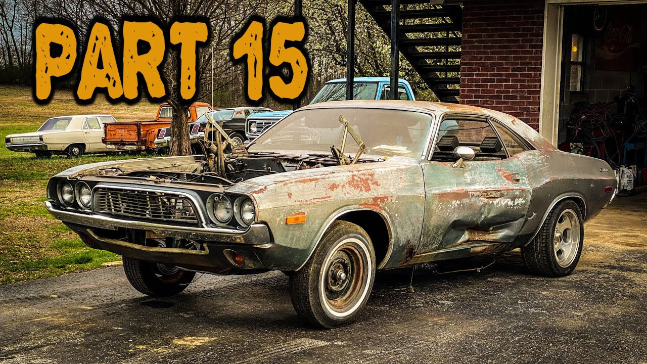 ABANDONED Dodge Challenger Rescued After 35 Years Part 15: New Glass and Trim!