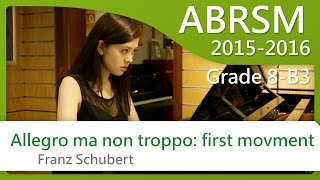 [青苗琴行 x 黃蔚然 Vanessa] ABRSM Piano 2015-2016 Grade 8 B3 Schubert Allegro ma non troppo: first movement