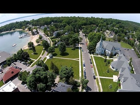 The Town of Harbor Springs Michigan via Drone