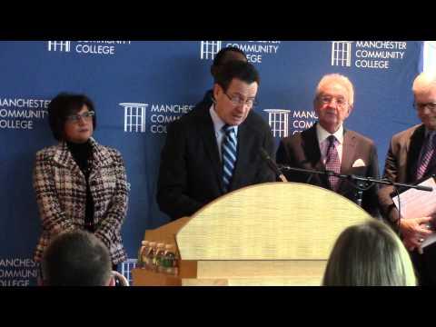 GOV. DANNEL MALLOY SPEAKS AT MCC (2-12-14)