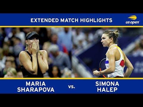 Maria Sharapova Vs Simona Halep | US Open 2017 R1