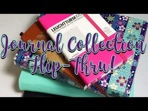 Journal Collection Flip Thru: Where I Started and Where I am Now