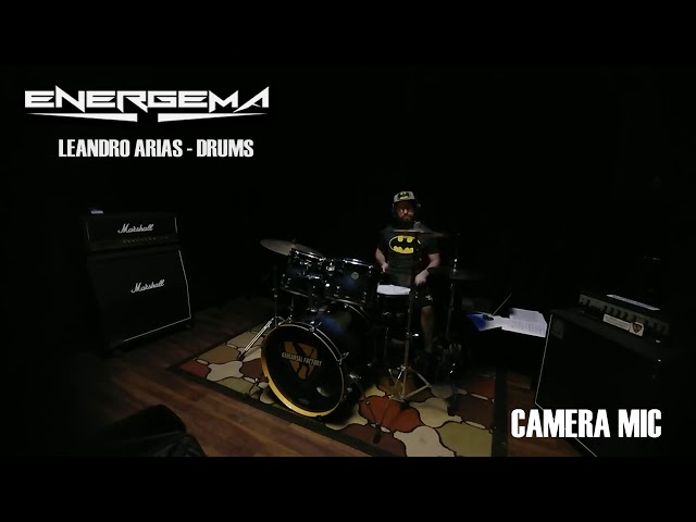 ENERGEMA   NEW ALBUM REPORT # 1    LEANDRO ARIAS   DRUMS RECORDING
