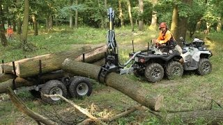 Can Am 6x6 and timber trailer in 4K quality