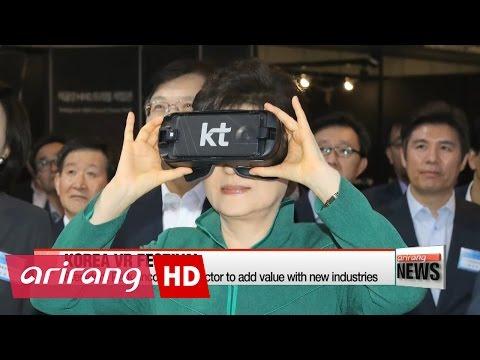 President Park encourages VR industries, attending festival in Seoul
