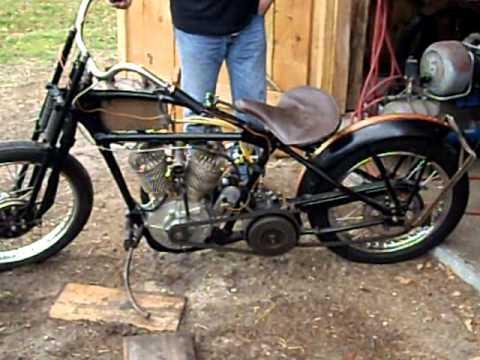 Harley JD JDH 1929 Bobber - YouTube