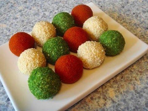 Сырные шарики с оливками