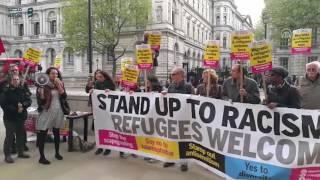 مصر العربية | مظاهرة في لندن تدعو لاستقبال لاجئي مخيم