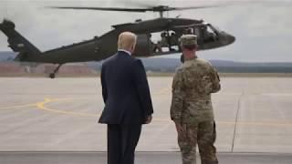 President Donald Trump at Fort Drum