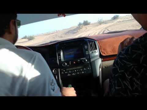 (Full HD) Extreme Accident in Dubai Desert Safari, Toyota Land Cruiser V8
