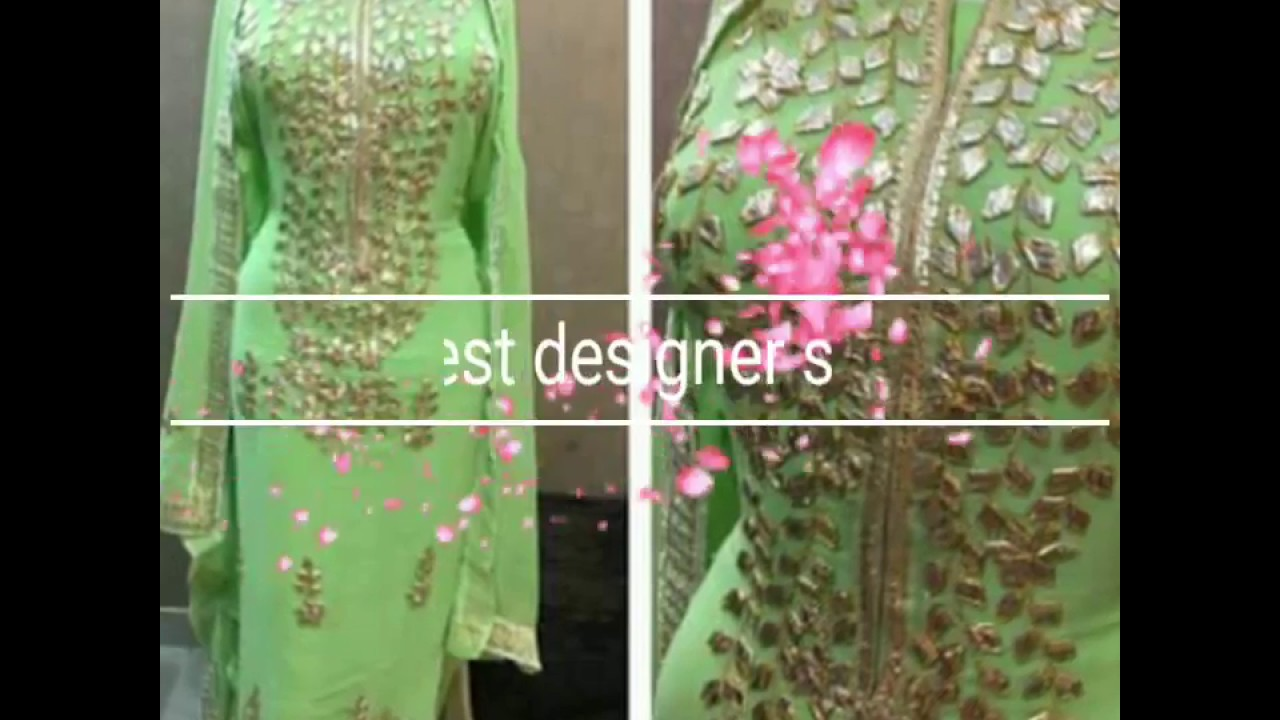 cb2d37508b Latest designer suit boutique work Punjabi suit 2017 - YouTube