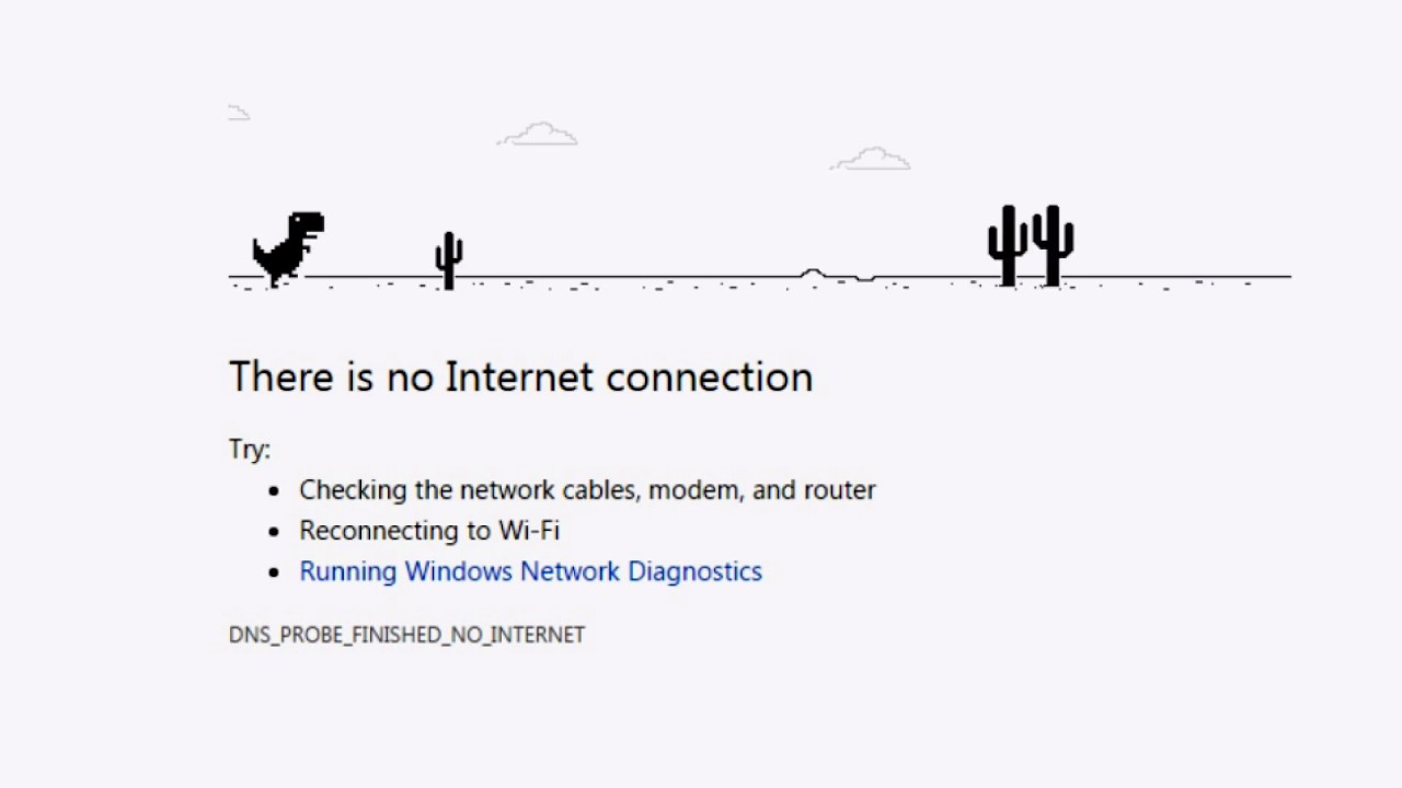 There Is No Internet Connection Chrome Game Youtube