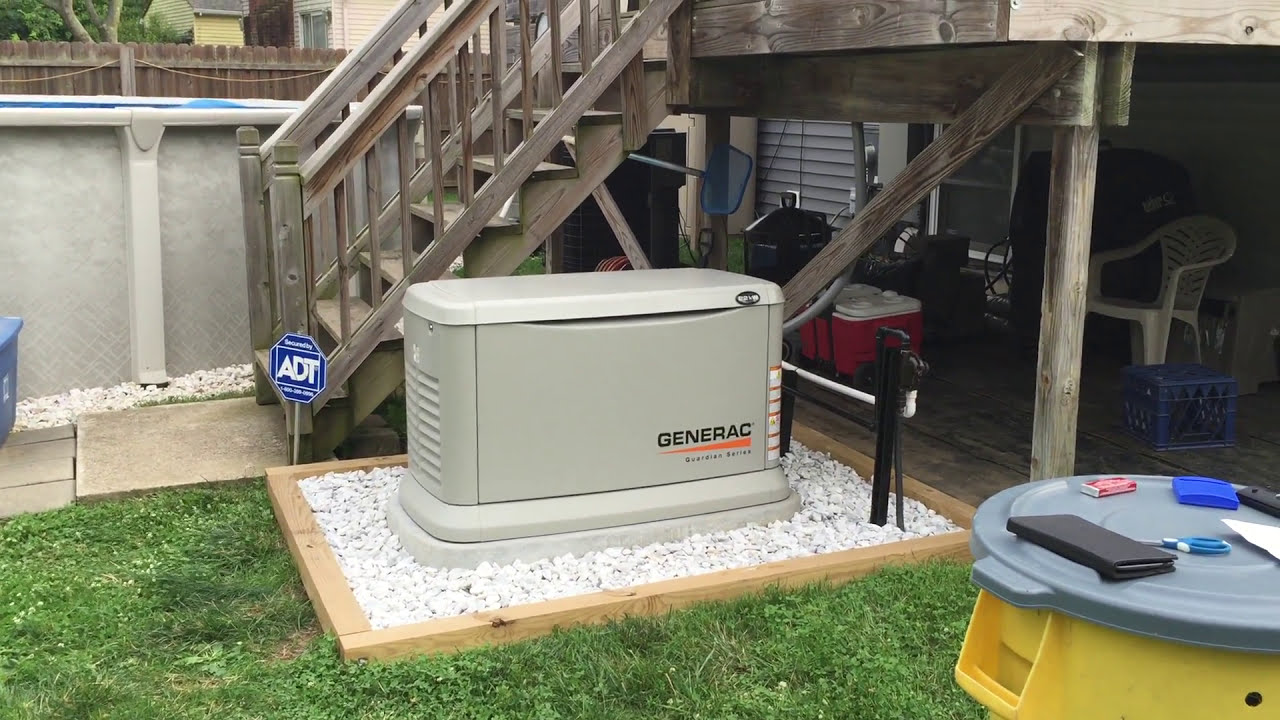 generac 22 kw stand by generator air cooled part 1 [ 1280 x 720 Pixel ]