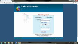 How To Get NU Honours / Degree 1st/2nd/3rd Year Result 2017