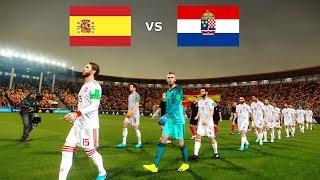 Spain vs Croatia UEFA Nations League 11 September 2018 Gameplay