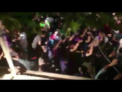 اولین دیسکوی خیابانی و انقلاب در مشهد بعد از خبر پیروزی حسن روحانی / Hassan Rouhani dance in Mashhad