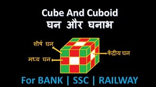 Cube and cuboid reasoning tricks in hindi|cube and cuboid|cube based question and answer|sbipo|ibps✔