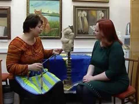 Видео как прядут нитки