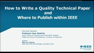 How to Publish a Technical Paper with IEEE
