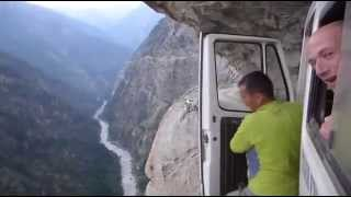 one of Nepal's most dangerous roads driving . Please comment & Share Your Friend.