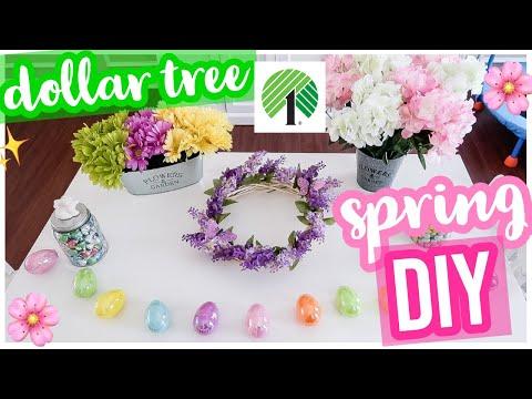 DIY DOLLAR TREE SPRING CRAFTS! EASY SPRING DECOR CRAFT WITH ME 2019 | Brianna K