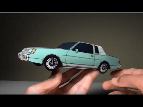 Jcarwil Papercraft 1981 Buick Regal Building Paper Model Car