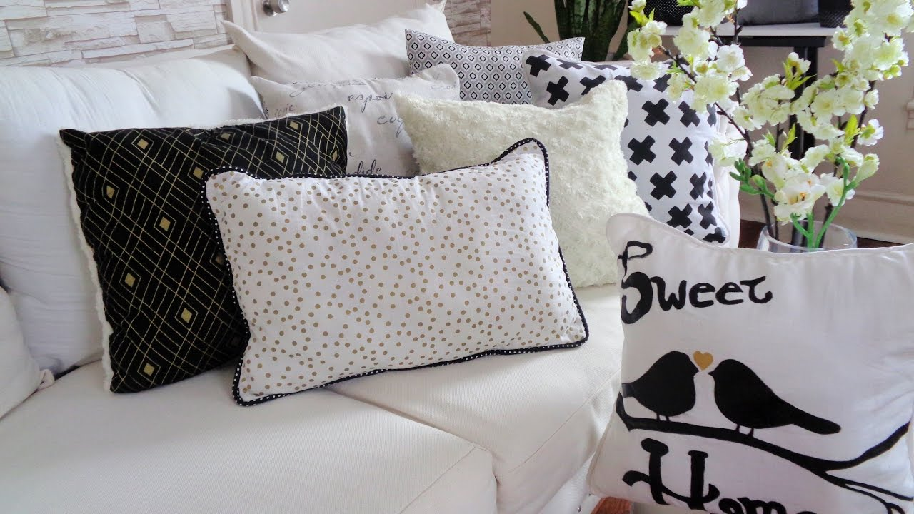Como hacer fundas para cojines cojines decorativos youtube for Almohadones para sillones