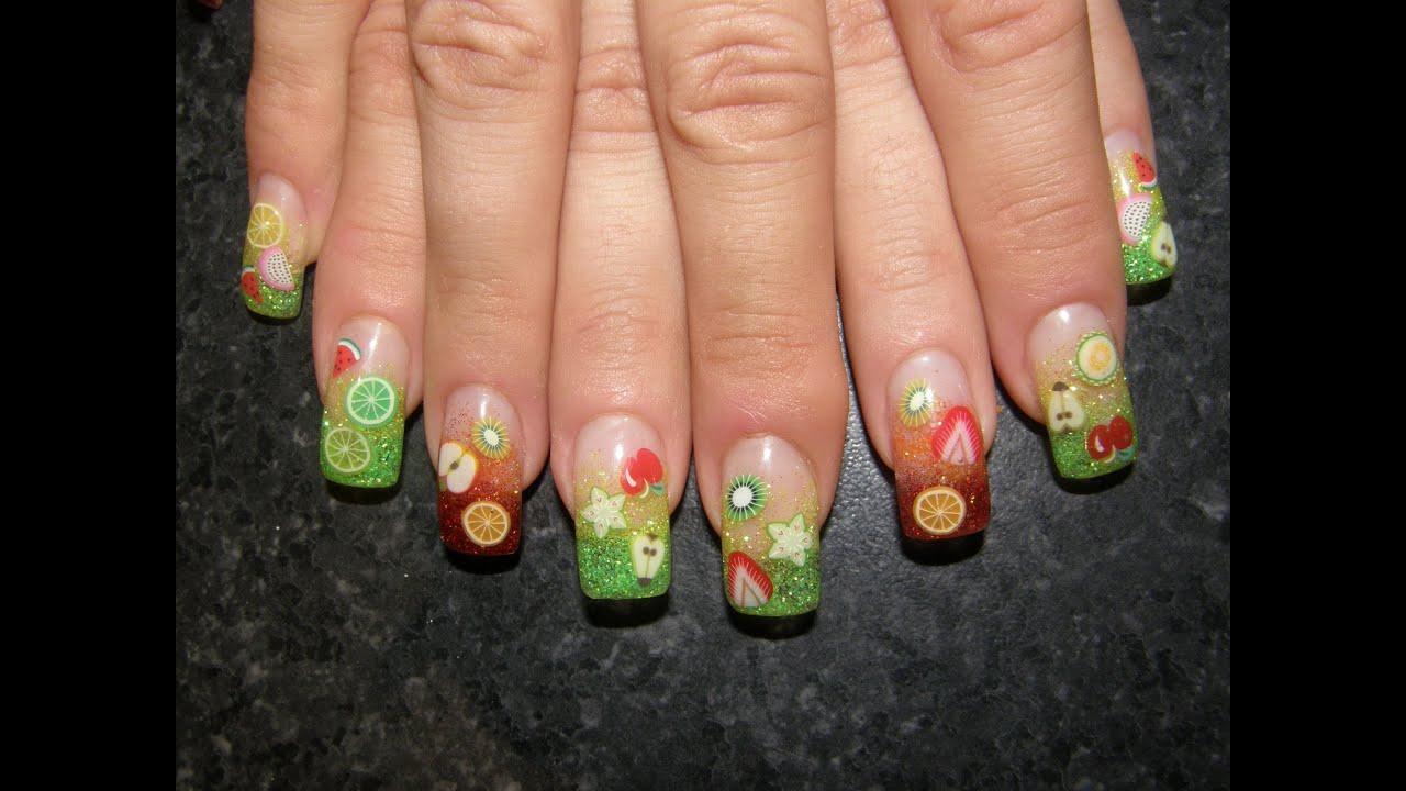 Gel Nails Fimo Nail Art Decorations4 Youtube