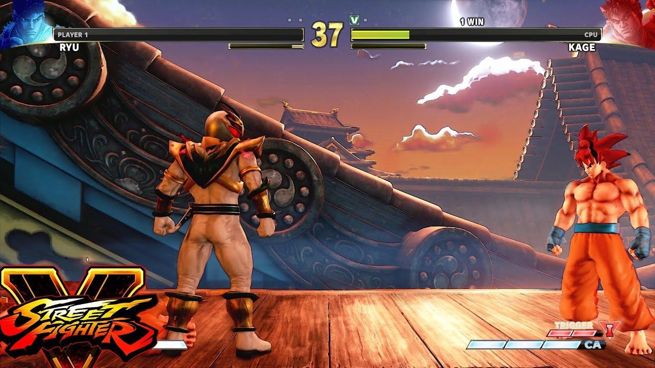 Street Fighter V Ae Ryu Vs Kage Pc Mod