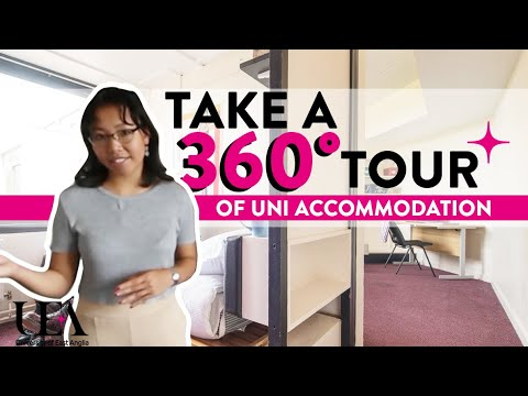 Standard Twin Ziggurat 360° Student Accommodation Tour  | University of East Anglia (UEA)